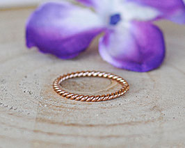Fingerring Twist (Rosé-Gold)