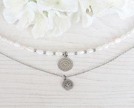 Halskette Kurz Perla (Silber)