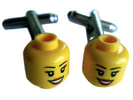 "Cufflinks ""lego heads"""
