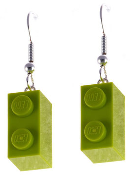 "Earrings ""Lego"" 1x2 brick"