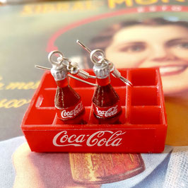 "Earrings ""Coca Cola"""