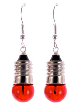 "Earrings ""Light Bulb"" red"