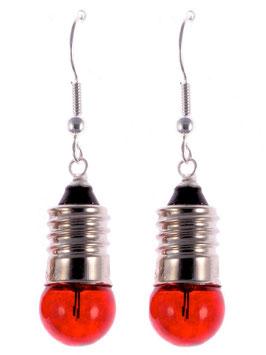 """Earrings """"Light Bulb"""" red"""