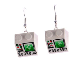 "Earrings ""Lego"" Computers"
