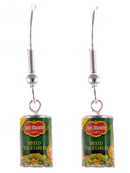 "Earrings ""Canned Vegetables"""