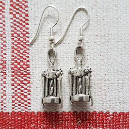 "Earrings  ""Corkscrew"""