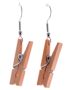 Earrings Wooden Pegs