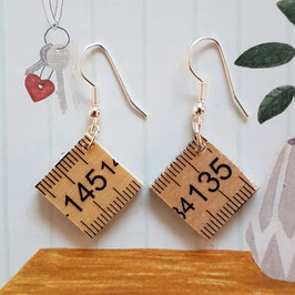 "Earrings ""wood meter"""