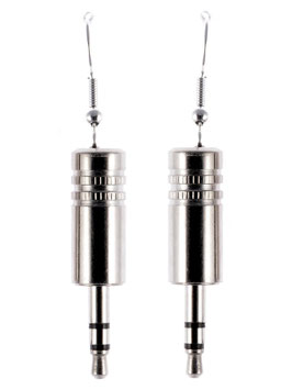 "Audio Earrings ""Stereo"" silver"