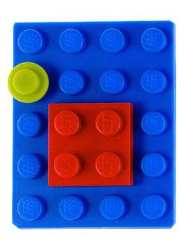 "Brooch ""Lego 2-piece"""