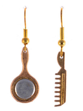 "Earrings ""Mirror & Comb"""