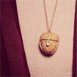 """Necklace """"Walnut box"""""""