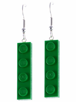 "Earrings ""Lego"" 1x4 flat"