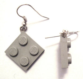 "Earrings ""Lego"" 2x2 flat"