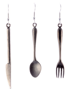 "Earring Set ""Cutlery"" (big)"