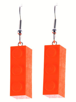 "Earrings ""Lego"" 1x3 brick"