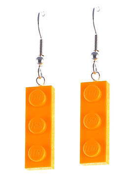 "Earrings ""Lego"" 1x3 flat"