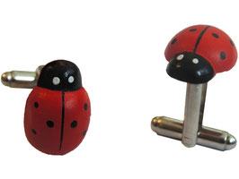 "Cufflinks ""Ladybug"""