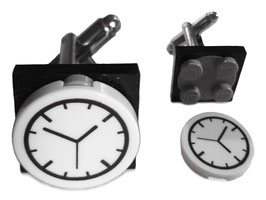 "Lego Cufflinks ""Rotating clock"""
