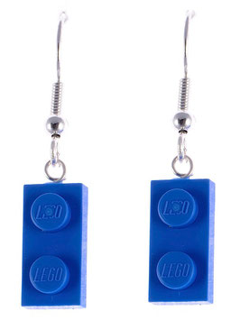 "Earrings ""Lego"" 1x2 flat"