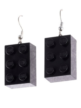 "Earrings ""Lego"" 2x3 brick"