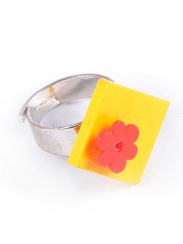 "Ring ""Lego Flower"""