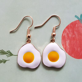 "Earrings ""fried egg"""