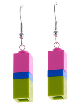 "Earrings ""Lego"" DIY"