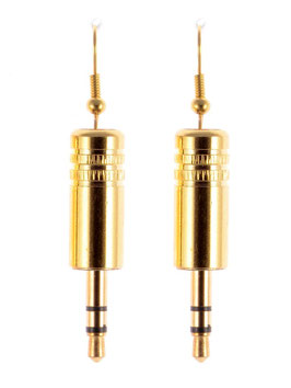 "Audio Earrings ""Stereo"" gold"