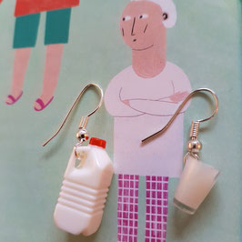 "Earrings ""Milk"""