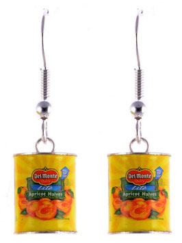 "Earrings ""Canned Fruit"""