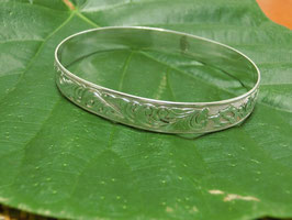 BANGLE SILVER  10mm HONU