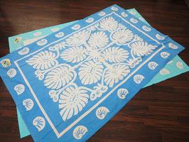 Maui ビーチシーツ ブルー×ホワイト