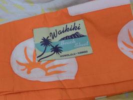 Maui ビーチシーツ オレンジ×ホワイト