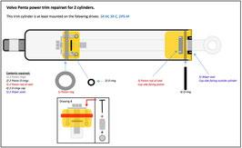 Volvo Penta SX-M and DPS-M trim cylinder rebuild kit