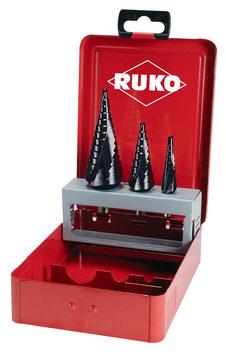 Stufenbohrer-Satz HSS-TiAlN in Industriekassette RUKO101026F