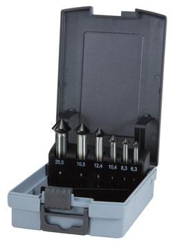 """Kegel- und Entgratsenker-Satz """"QUICKCut"""" DIN 335 Form C 90° HSS in ABS-Kunststoffkassette RUKO102752FRO"""