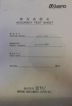 Accuracy Test Sheet