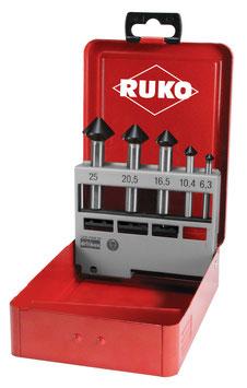 """Kegel- und Entgratsenker-Satz """"QUICKCUT"""" DIN 335 Form C 90° HSS in Industriekassette RUKO102754F"""