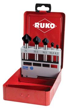 Kegel- und Entgratsenker-Satz DIN 335 Form C 90° HSS-TiAlN in Industriekassette RUKO102154F