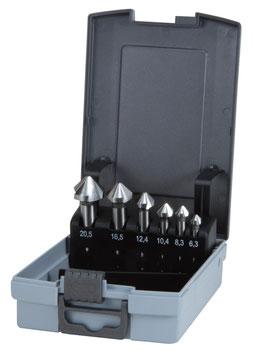 Kegel- und Entgratsenker-Satz DIN 335 Form C 90° HSS in ABS-Kunststoffkassette RUKO102152RO