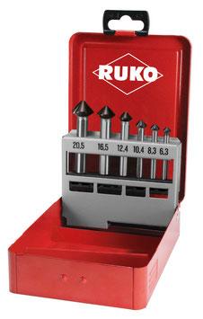"""Kegel- und Entgratsenker-Satz """"QUICKCut"""" DIN 335 Form C 90° HSS in Industriekassette RUKO102752F"""