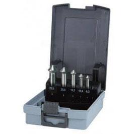 """Kegel- und Entgratsenker-Satz """"QUICKCUT"""" DIN 335 Form C 90° HSS in ABS-Kunststoffkassette RUKO102754RO"""