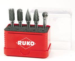 Hartmetall-Frässtifte-Satz in Mini-Box RUKO116004