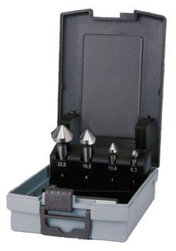 Kegel- und Entgratsenker-Satz DIN 335 Form C 90° HSS in ABS-Kunststoffkassette RUKO102154RO