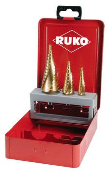 Stufenbohrer-Satz HSS-TIN in Industriekassette RUKO101026T