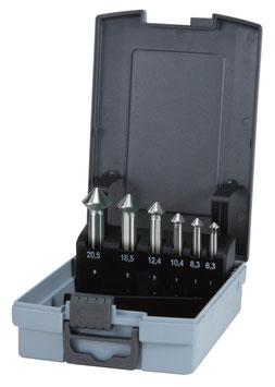 """Kegel- und Entgratsenker-Satz """"QUICKCut"""" DIN 335 Form C 90° HSS in ABS-Kunststoffkassette RUKO102752RO"""