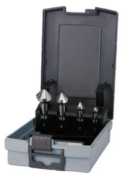 Kegel- und Entgratsenker-Satz DIN 335 Form C 90° HSSE-Co 5 in ABS-Kunststoffkassette RUKO102154ERO