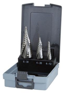 Stufenbohrer-Satz HSSE - Co 5 in ABS-Kunststoffkassette RUKO101026ERO