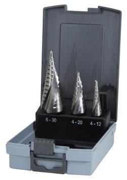 Stufenbohrer-Satz HSS in ABS-Kunststoffkassette